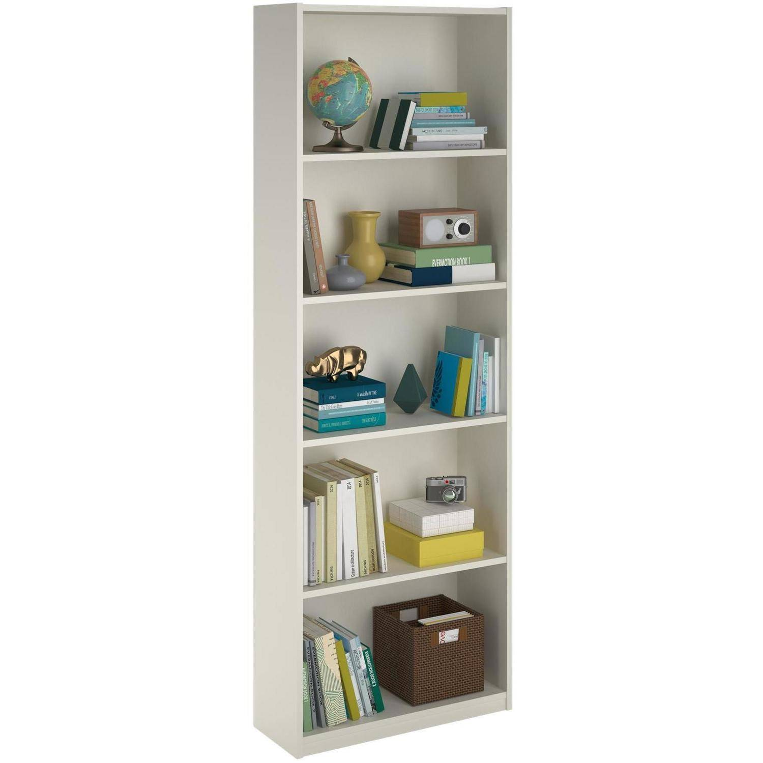 shelf bookcase storage home office shelving bookshelf white