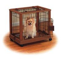 "Richell Mobile Dog Playpen, Autumn Matte, Small, 25.20""L x 18.10""W x 22.40""H"
