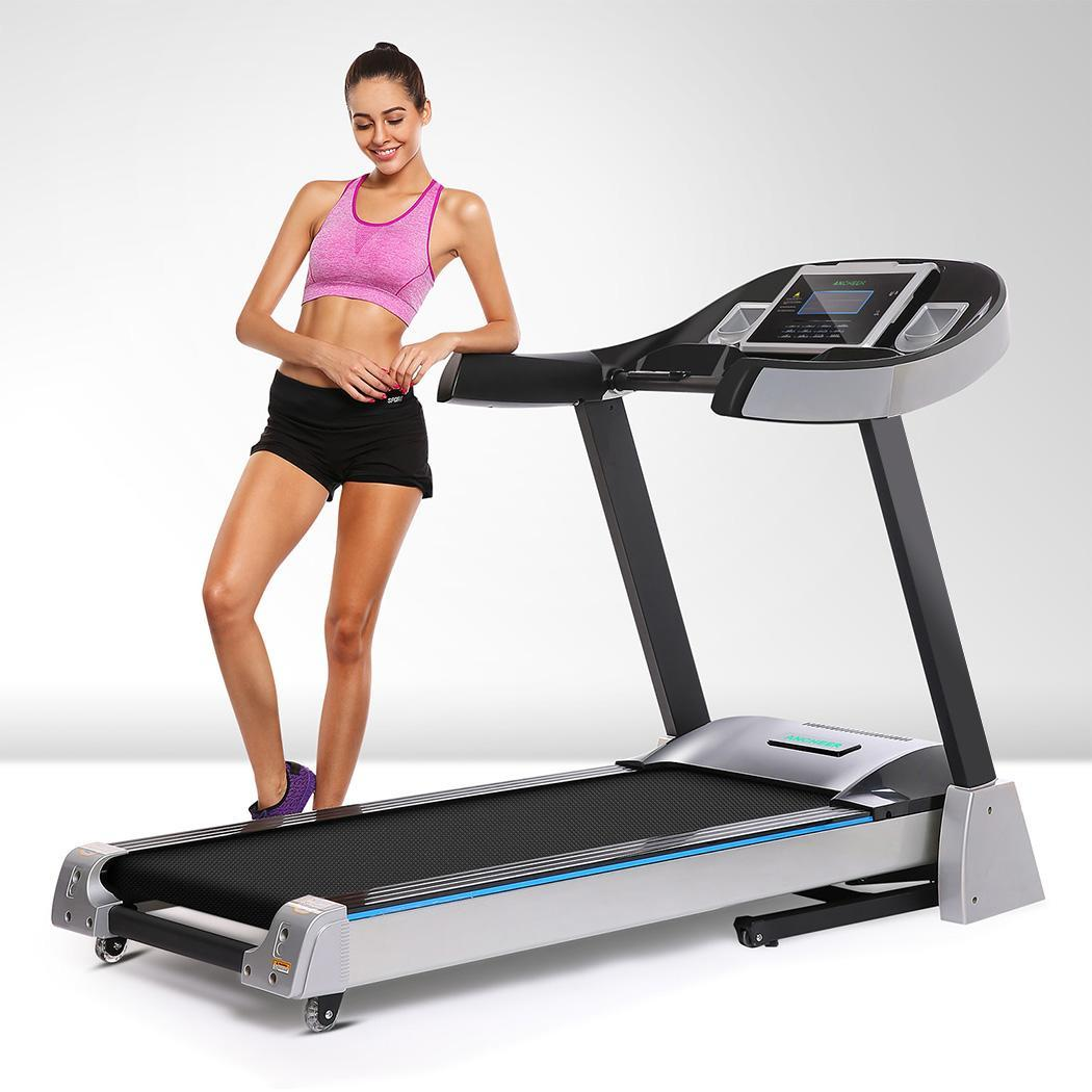 Clearance! 4.5hp Electric Folding Treadmill Health Fitness Training Equipment with 15% Incline WIMA by