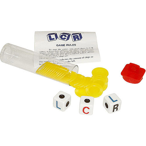 Trademark Poker Left Center Right Dice Game, Yellow