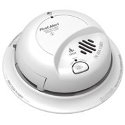 BRK SC912OB Combination Smoke Alarm, Detectable Medium, Visual, Audible Alarm, 120 V, 60 Hz, Hard Wired Battery