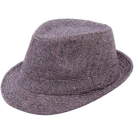 b81628c4b11e5 Simplicity - Men s Manhattan Fedora Hat Structured Black Color Cap ...