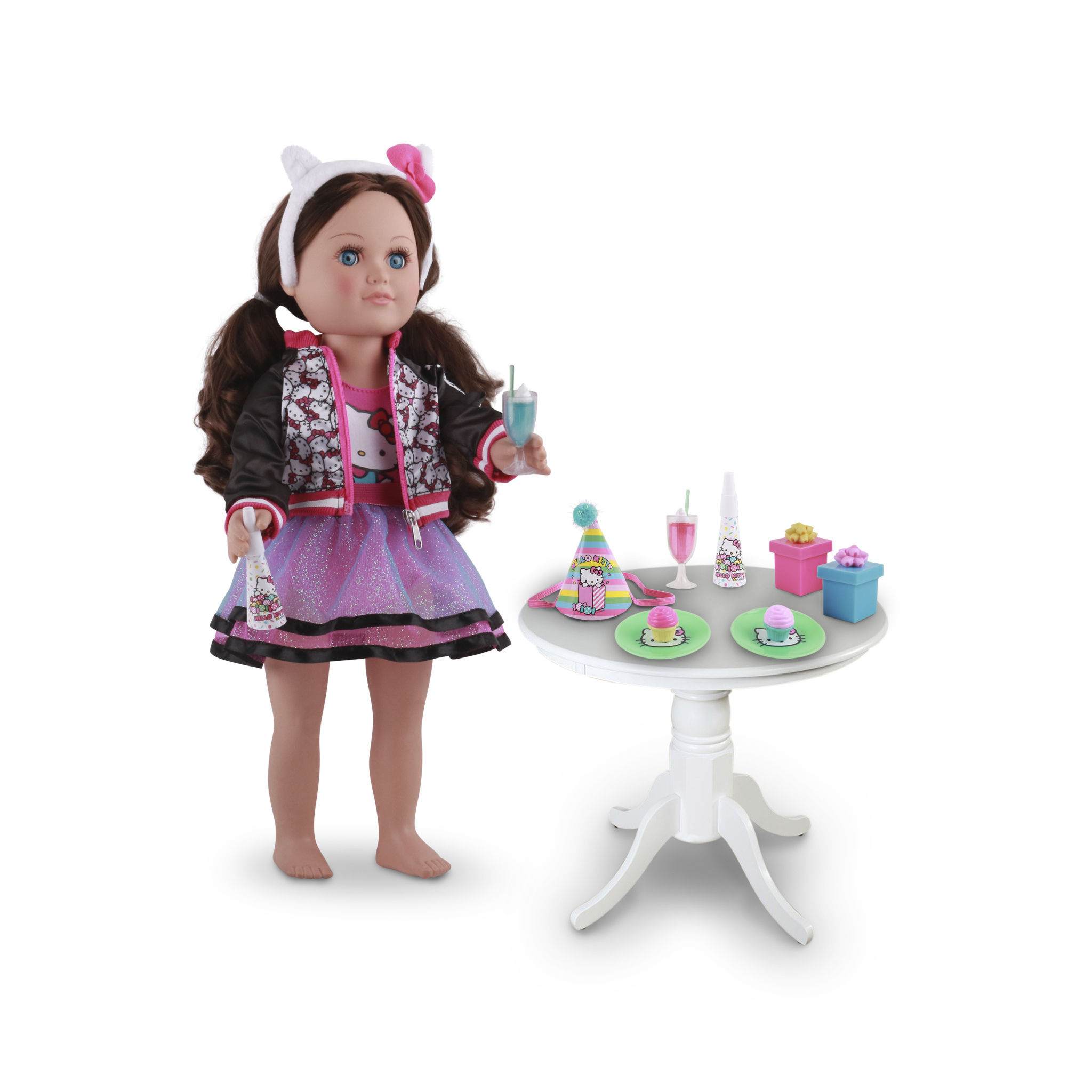 12 PCs Girl Birthday Gift Dinners Table For  Doll Accessories Gift Toy For Gi YN