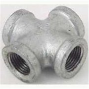 Worldwide Sourcing Pipe Cross, 1 In, Malleable Iron, Galvanized