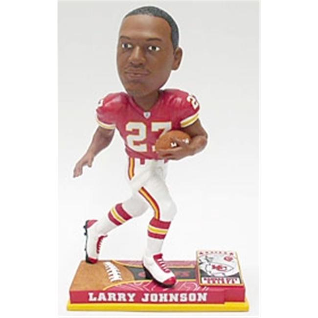 Kansas City Chiefs Larry Johnson Forever Collectibles On Field Bobble Head