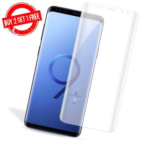 LIVEDITOR Samsung Galaxy S9+ PLUS Full Coverage Clear Anti-Bubble 3D Film Screen Protector - image 7 of 7