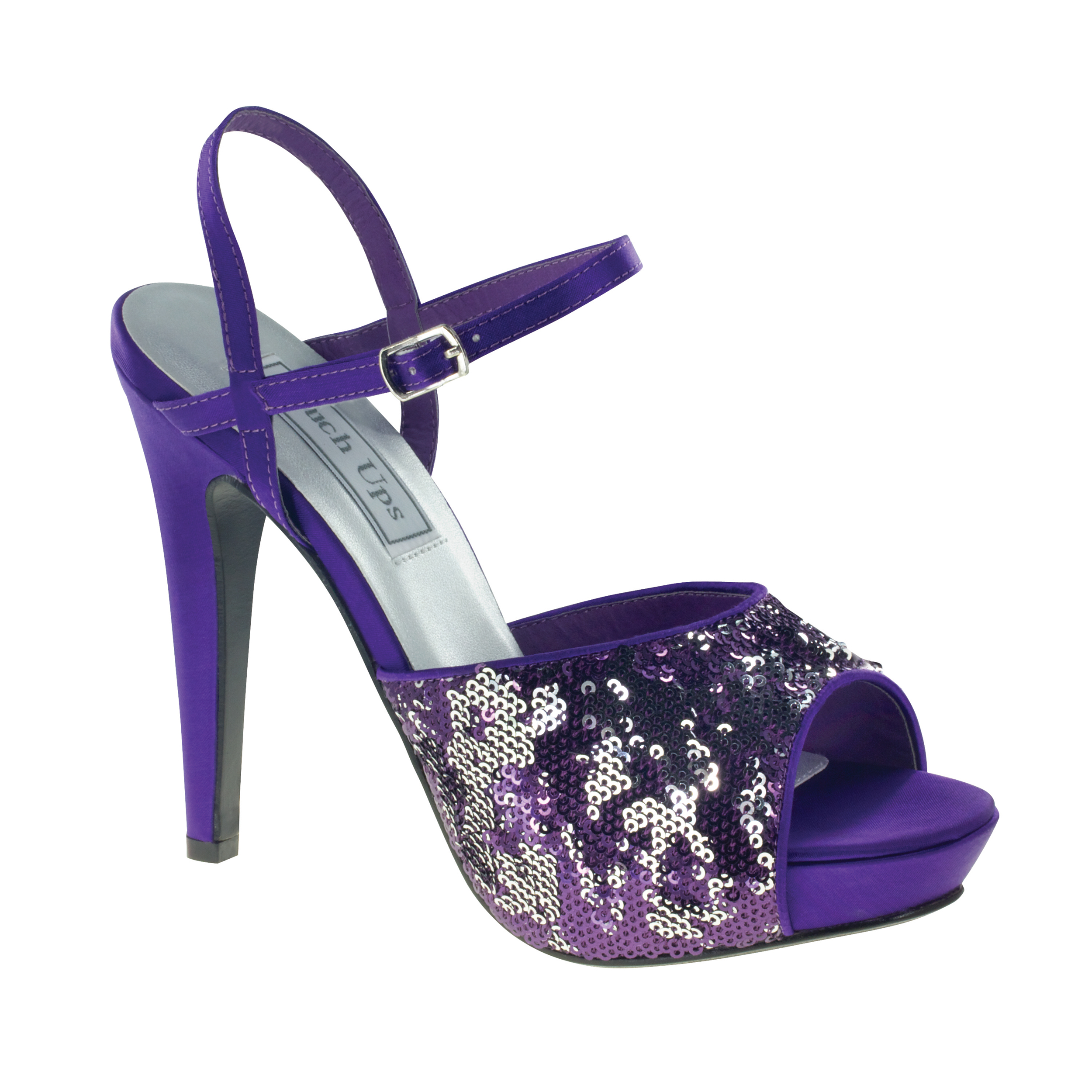 Touch Ups Womens Bev Platform Pump,Purple Sequins,5.5 M US