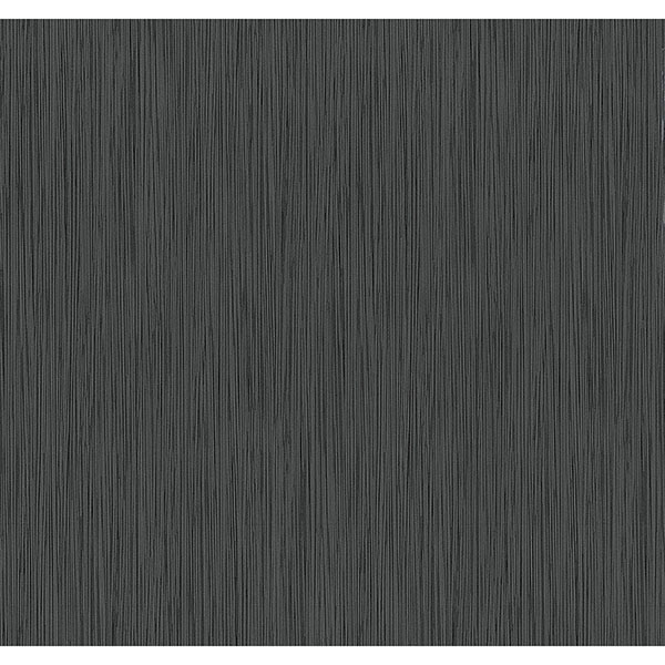 Ellington Black Horizontal Striped Texture Wallpaper