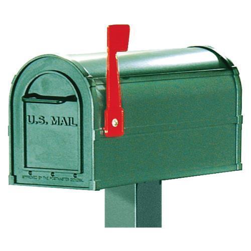 Rural Style Community Mailbox, 1 Box, Green