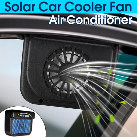 Portable Solar Powered Home Car Cooling Vehicle Truck Air Vent Cooler Cooling Fan Radiator System Low -
