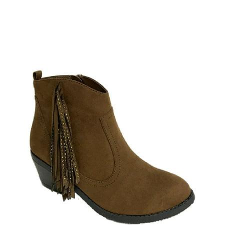 Wonder Nation Rhinestone Fringe Ankle Boot (Little Girls & Big Girls)