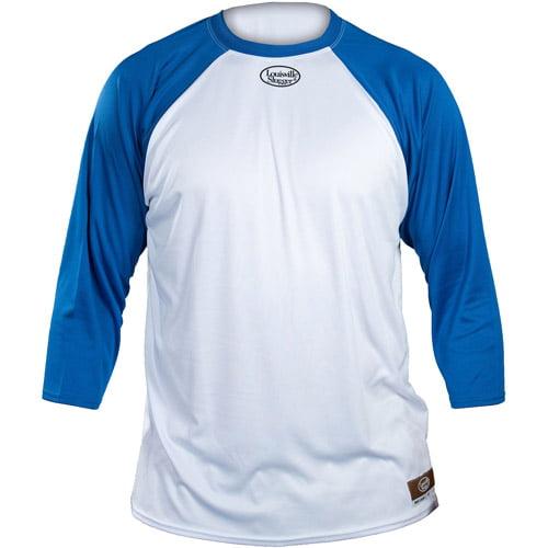 Louisville Slugger Youth Slugger Loose-Fit 3/4-Sleeve Shirt, White/Royal