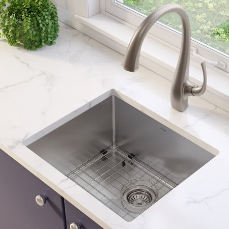 KRAUS Standart PRO™ 21-inch 16 Gauge Undermount Single Bowl Stainless Steel  Kitchen Sink