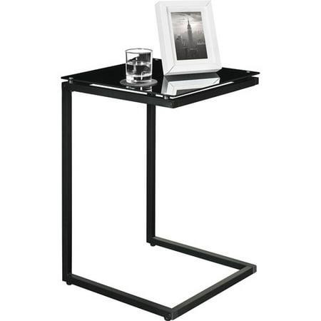 Ameriwood Home Crane Glass Top C Table Black Walmart Com
