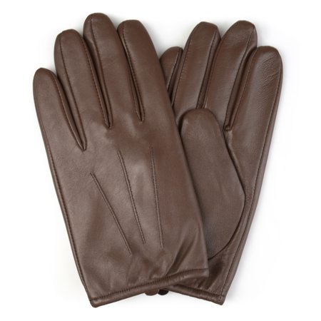 Donald Pliner Leather Harness - Mens Lined Genuine Leather Driving Gloves