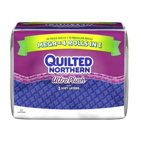 Quilted Northern Ultra Plush Toilet Paper, 18 Mega Rolls - Walmart.com : quilted toilet paper - Adamdwight.com