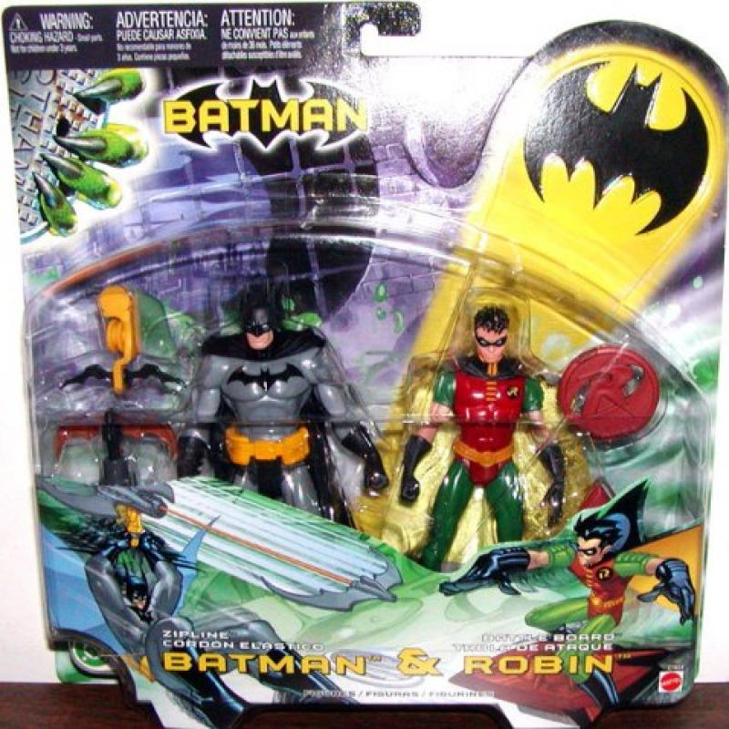 Batman Zip Line and Battle Board Robin 2 pack Mattel 2003 by