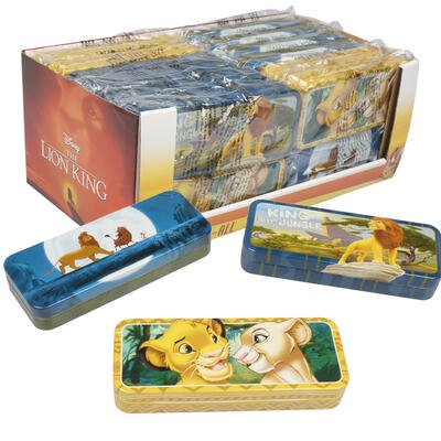 Pencil Boxes In Bulk (New 218295  The Lion King Tin Pencil Case (24-Pack) Cheap Wholesale Discount Bulk Stationery)