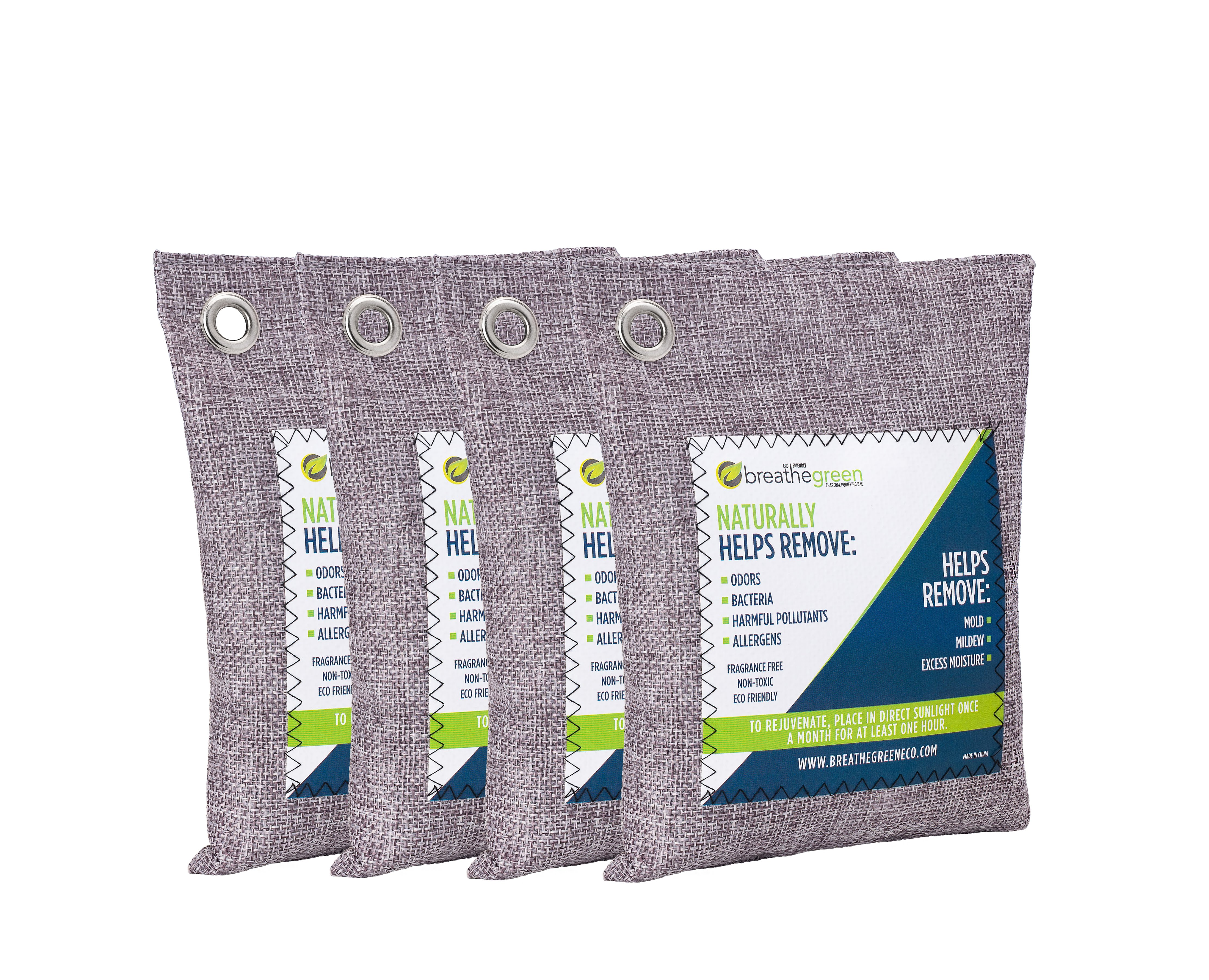 Regenerair 6 Pack Air Purifying Bags 100/% Activated Bamboo Charcoal Odor Eliminator for Kitchens Bedrooms Bathrooms Cars Basements Pet Areas /& Shoes