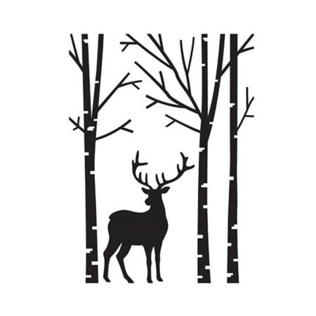 Deer in the Forest Paper Craft Supply Embossing Folder - Paper Embossing