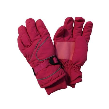 Thinsulate Girls Pink Snow & Ski Gloves Winter Snowboarding Insulation 13-15 YR (800 Gram Thinsulate Insulation)