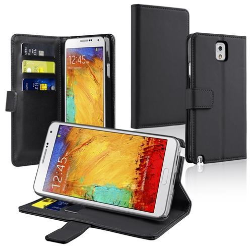Insten BLACK LEATHER WALLET CASE FOR SAMSUNG GALAXY NOTE 3 N9000