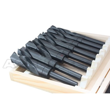 """Accusize - 8 Pcs/Set HSS 1/2'' Shank S&D Drill in Metal Box 9/16'' to 1"""", #H516-6502 - image 2 of 6"""