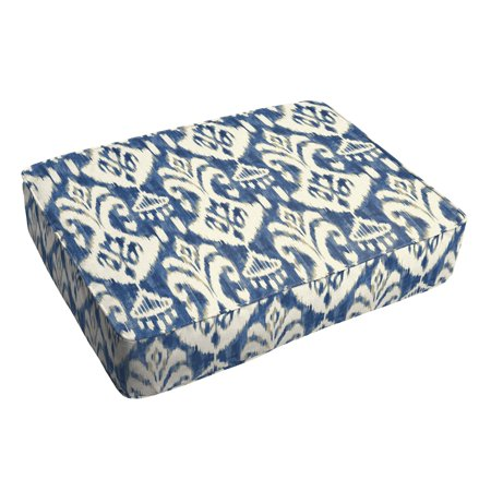 Outstanding Humble And Haute Rainford Ii Indigo Ikat Indoor Outdoor 18 X 29 Inch Corded Floor Cushion Gamerscity Chair Design For Home Gamerscityorg