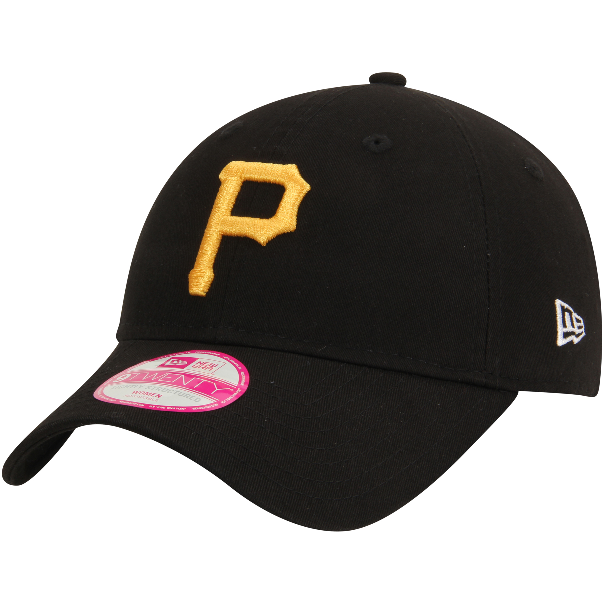 Pittsburgh Pirates New Era Women's 9TWENTY Essential Adjustable Hat - Black - OSFA