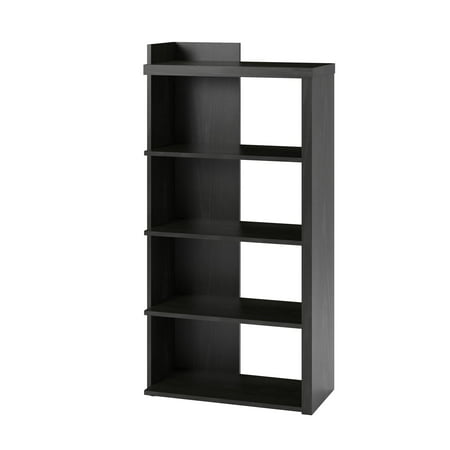 Ameriwood Home Madison 5 Shelf Bookcase, Black Oak
