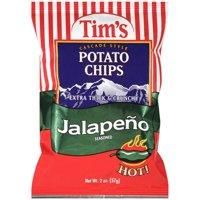 Tims Cascade Style Jalapeno Seasoned Potato Chips 2 Oz.