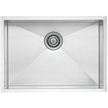 "Blanco 518171 Quatrus 20.5"" X 37.5"" Single-Basin Stainless Steel Undermount Residential Kitchen Sink, Satin"
