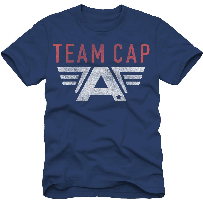 Marvel Captain America Team Cap Boys Short Sleeve Graphic Tee
