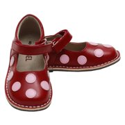 Red Pink Polka Dot Mary Jane Shoes Girls Baby 4-Little Girls 12