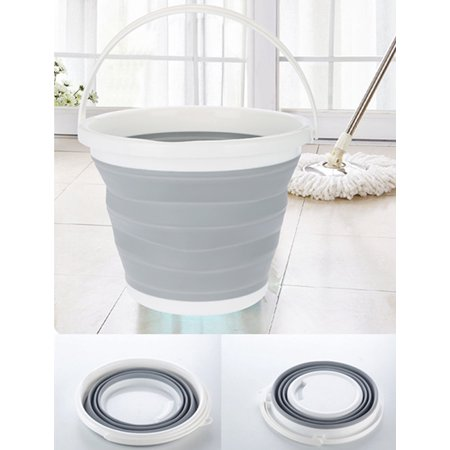 10l Folding Plastic Bucket Kitchen Garden Portable Collapsible