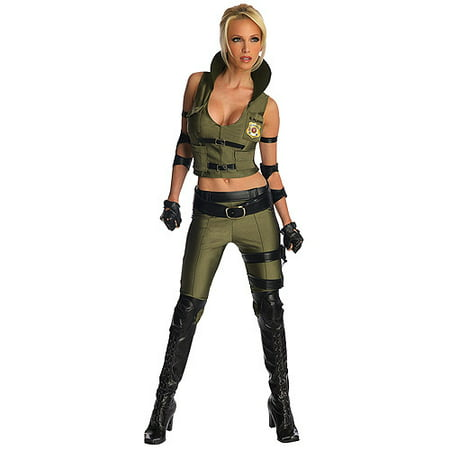 Mortal Kombat Female Costumes (Mortal Kombat Sonya Blade Adult Halloween)