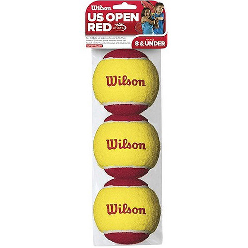 Wilson US Open Starter Tennis Balls, 3-Pack of Balls