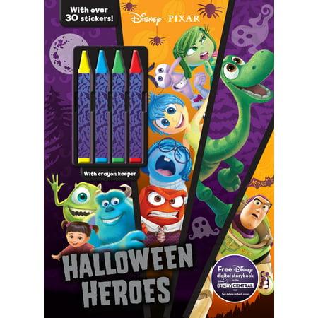 Color & Activity with Crayons: Disney Pixar Halloween Heroes (Paperback)
