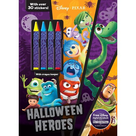 Color & Activity with Crayons: Disney Pixar Halloween Heroes (Paperback)