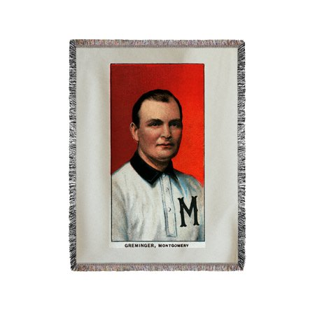 Montgomery Throw (Montgomery Southern League - Ed Greminger - Baseball Card (60x80 Woven Chenille Yarn Blanket))