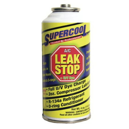 AC Air Conditioning Seal Leak Stop withDye 4 Ounce (Stop Aerosol)