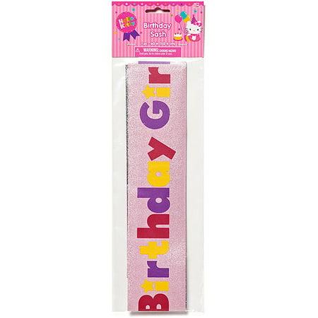 Hello Kitty Birthday Girl Sash, Party Supplies