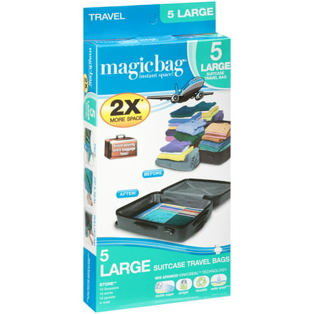 Magicbag® Suitcase Travel Bags Large 5 ct Box - Walmart.com