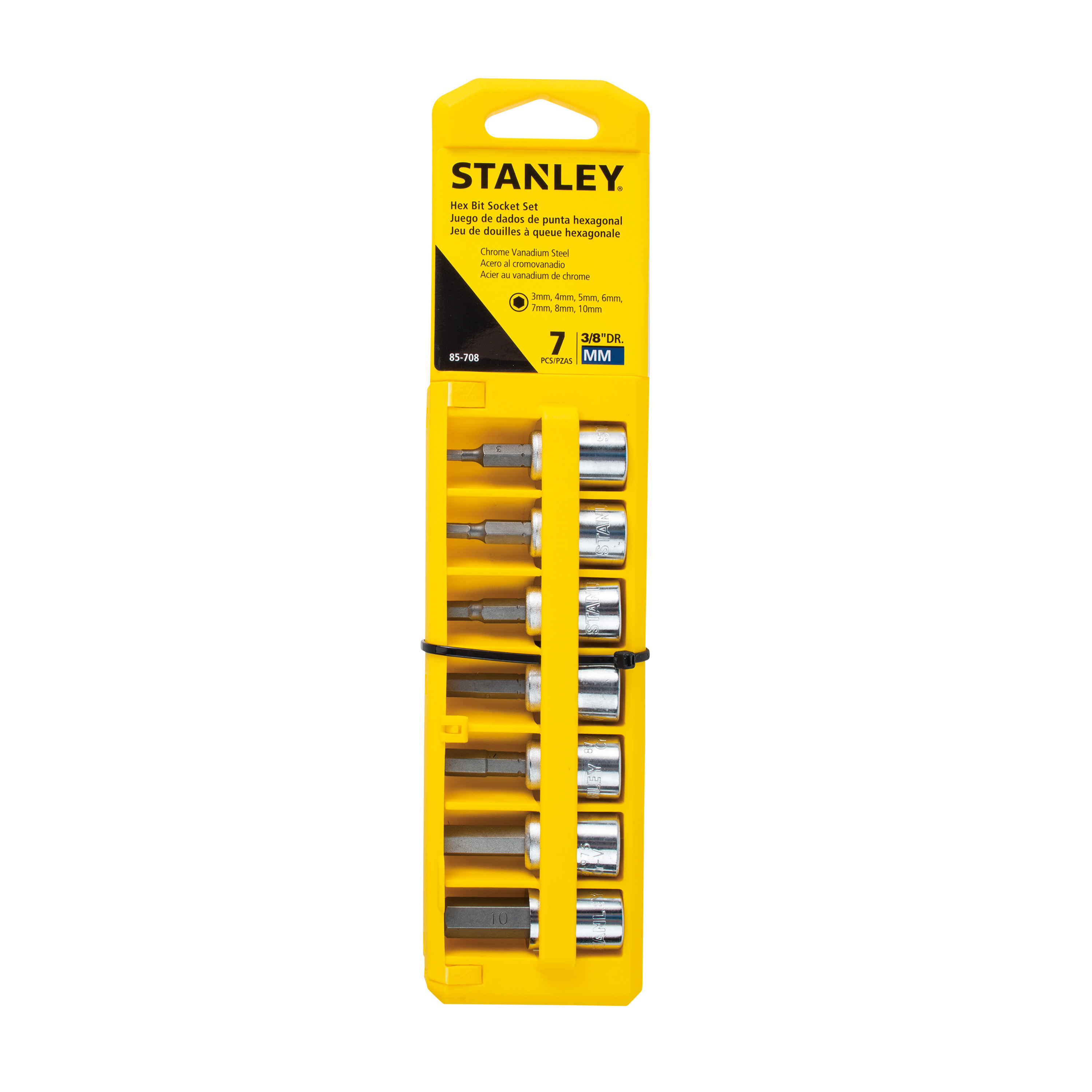 STANLEY 7 Piece 3/8'' Hex Socket Set, Metric | 85-708