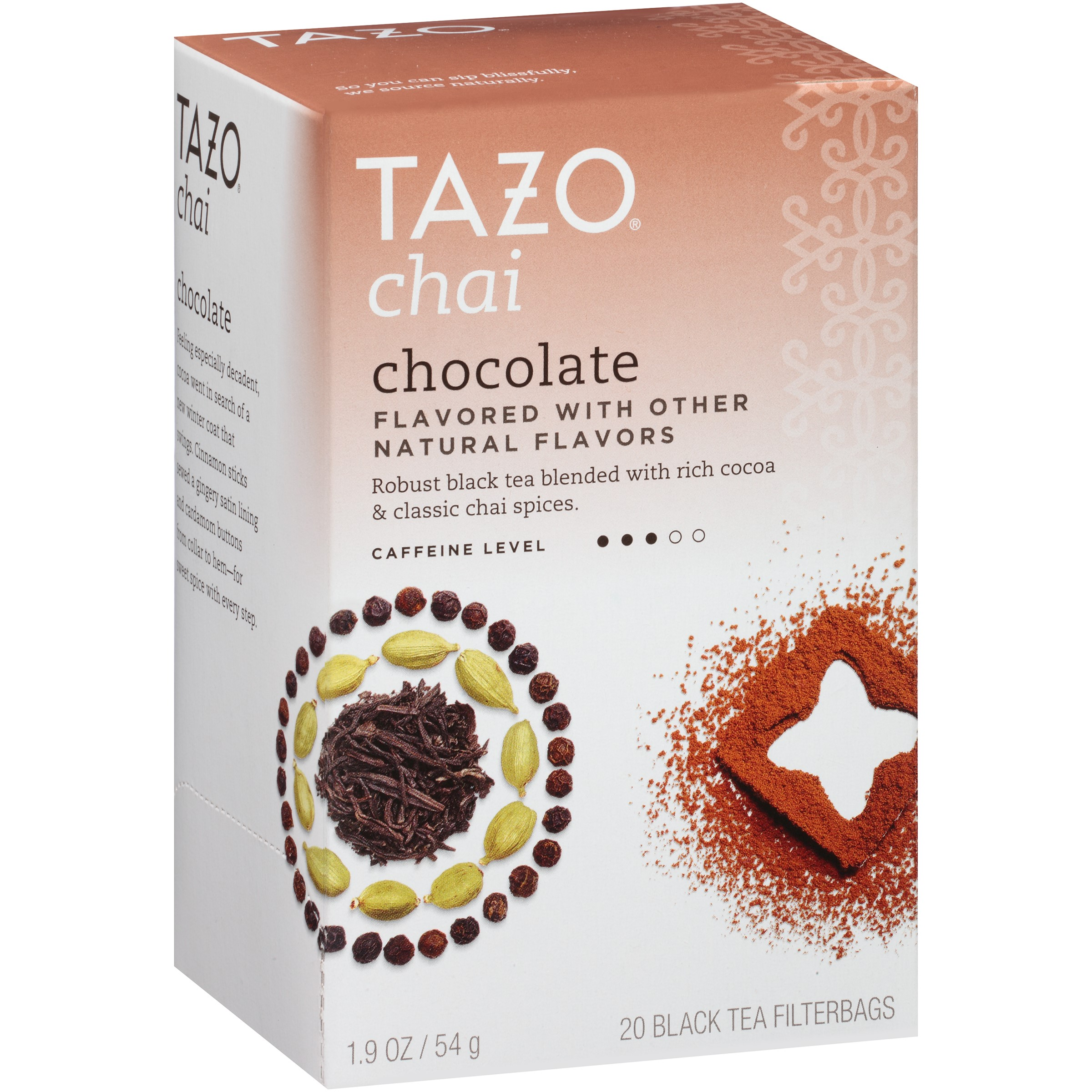 (6 Pack) Tazo Chai Chocolate Black Tea Filterbags, 20 Count, 1.9 Ounce