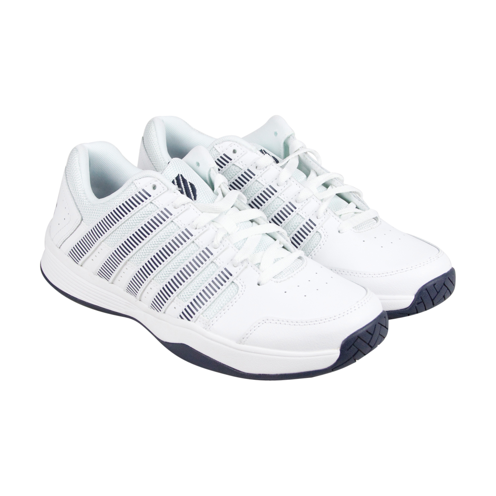 K-Swiss Court Impact Mens White Synthetic Athletic Lace Up Training Shoes by