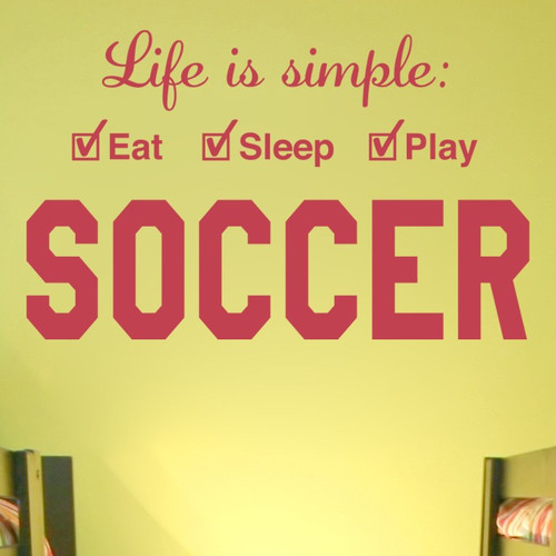 Alphabet Garden Designs Soccer Life is Simple Play Wall Decal