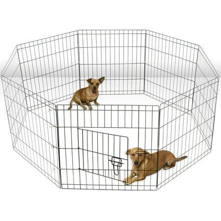Oxgord Metal 8-panel Portable Wire Exercise Dog Playpen - Walmart.com