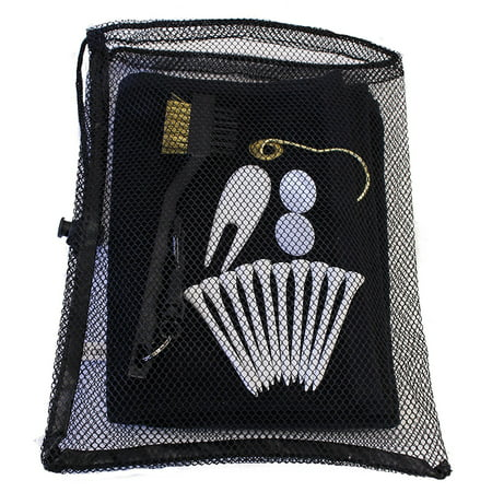 Golf Utility Kit by JP Lann (Includes: Towel, Tees, Ball Markers, Divot Tool & Utility Scrub Brush) ()