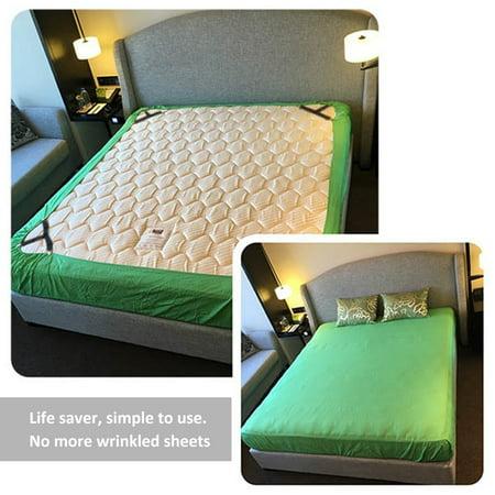 Deago 4Pcs/set Adjustable Bed Sheet Gripper Corner Straps Triangle Bed Mattress Sheet Clips Suspender Fastener